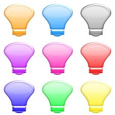 Free Light Bulb Set Royalty Free Stock Photography - 5425197