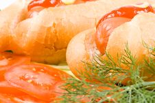 Free Hot Dogs With Vegetables Royalty Free Stock Photo - 5426285