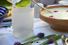 Free Decorated Table With Tzatziki Royalty Free Stock Image - 5426306