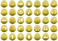 Free Icon Set Yellow 1 Royalty Free Stock Images - 5426429