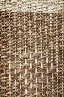 Texture Of Brown Wicker Royalty Free Stock Image