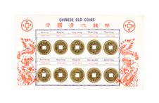 Free Chinese Old Coins Royalty Free Stock Photography - 5426767