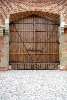 Free Old Oak Door Stock Photography - 5426892