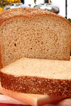 Whole Wheat Bread Sliced Royalty Free Stock Image
