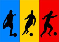 Soccer Players And Flag Of Romania Royalty Free Stock Image
