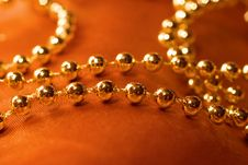 Golden Necklace Stock Image