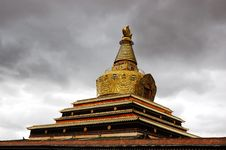Tibet Gold Pagodas Royalty Free Stock Photos