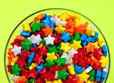 Free Candy Stars In Dish Royalty Free Stock Photo - 5428535