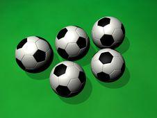 Free Soccer Balls Royalty Free Stock Photo - 5428625