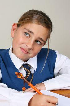 Free School Girl Royalty Free Stock Photo - 5428895