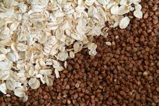 Free Oats And Buckwheat Groats Stock Photos - 5429203