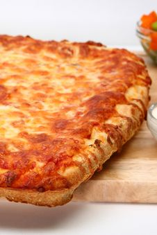 Free Cheese Bread Pizza Royalty Free Stock Photography - 5429457