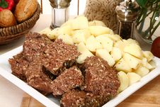 Free Meatloaf And Potatoes Stock Photos - 5429663