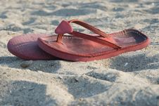 Red Slippers Stock Image