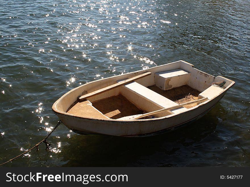 Small boat in Caribbean