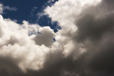 Thick White Cloud In The Blue Sky Stock Image