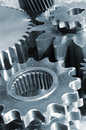Free Blue Titanium And Steel Gears Royalty Free Stock Photography - 5430087