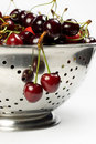 Free Close-up Of Fresh Cherry In Colander Stock Photography - 5431422
