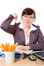 Free Angry Office Worker, Stressed But Isolated Stock Image - 5432371
