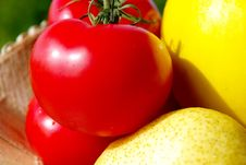 Free Tomatoes & Colorful Fruits Royalty Free Stock Image - 5430736