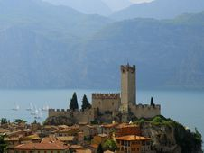 Ancient Castle In Malcesine Stock Image