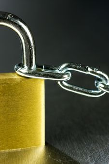 Free Close-up Of Padlock With Chain Stock Images - 5431404