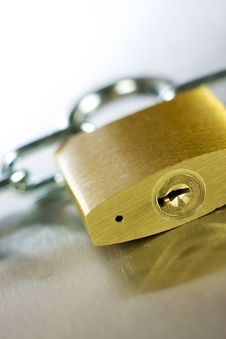 Free Close-up Of Padlock With Chain Stock Images - 5431414