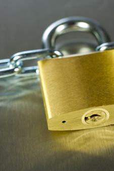 Free Close-up Of Padlock With Chain Stock Photo - 5431420