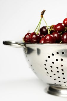 Free Close-up Of Fresh Cherry In Colander Stock Photos - 5431423