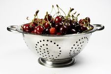 Free Fresh Cherry In Colander Royalty Free Stock Photography - 5431427