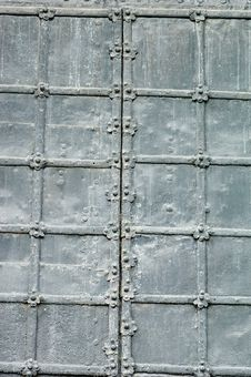 Texture Of Old Metal Gates Royalty Free Stock Photos