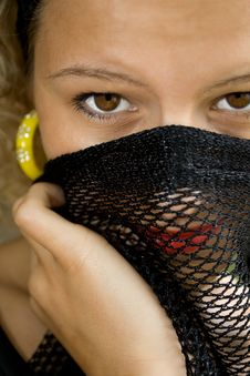 Portrait Of Young Lady With Veil Royalty Free Stock Photo