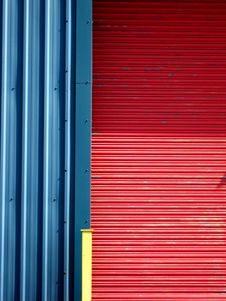 Vivid Wall Gate And Post Stock Image