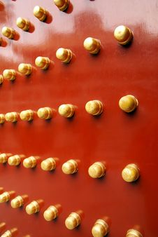 Free Red Traditional Door At Summer Emperor Palace Stock Photo - 5432870