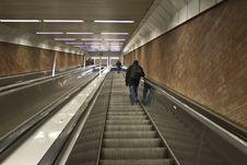 Free Subway Escalator In Munich Royalty Free Stock Photo - 5433055