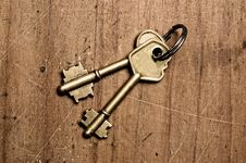 Free Bronze Keys. Stock Images - 5433074