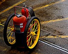 Free Fire Extinguisher On Wheels Stock Images - 5433404