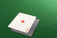 Free Blackjack Ace Hand Royalty Free Stock Photo - 5433485