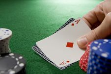 Free Blackjack Hand With Ace Stock Photo - 5433690