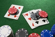 Free Blackjack Hand Double Royalty Free Stock Photo - 5433705