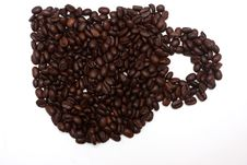 Coffeebeans Cup Royalty Free Stock Photo