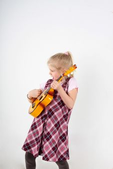 Toy Guitar Royalty Free Stock Images