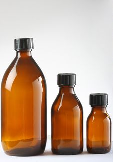 Medicine Bottles Stock Photography