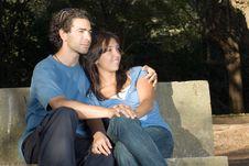 Free Couple On A Bench  - Horizontal Stock Photos - 5434093