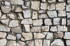 Free Wall From Limestone Blocks Stock Image - 5435501