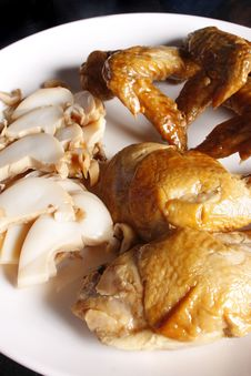 Free Marinated Chicken Leg, Wing And Squid Stock Image - 5435961