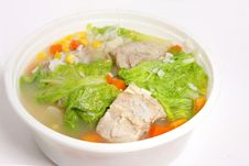 Free Pork Soup With Cabbage, Corn And Carrot Stock Photo - 5435980