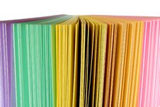 Office Colored Paper Stock Photography