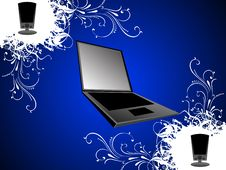 Free Laptop With Speakers Royalty Free Stock Photography - 5436357