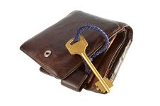 Wallet And Key Stock Photo